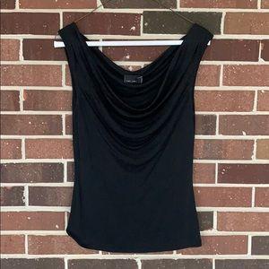 Sexy silk plunging neckline top